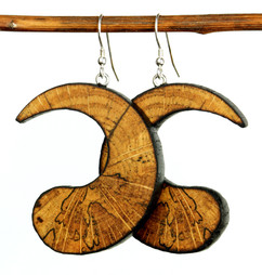 Spalted yin yang earrings.jpg