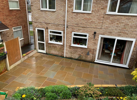Exciting New Patio