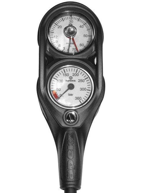 Apeks Depth & Pressure Twin Gauge