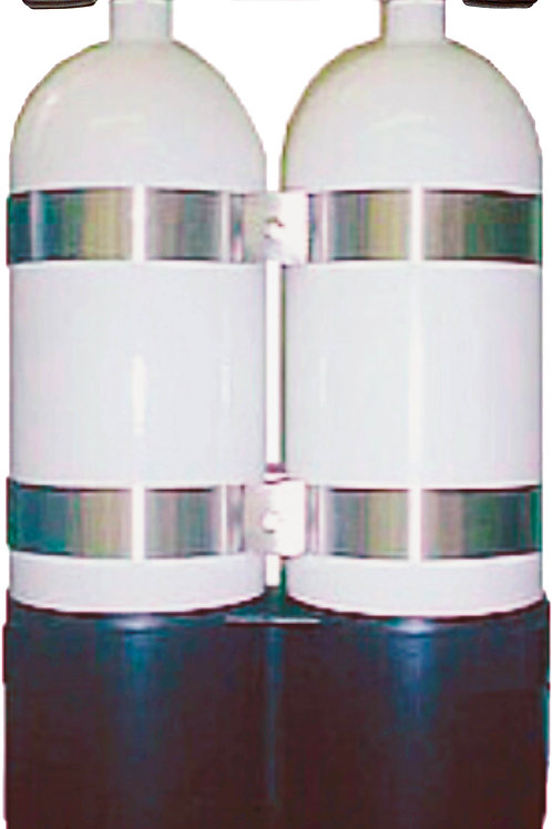 Beaver Two lightweight 12 Litre steel cylinders, manufactured to the stringent s