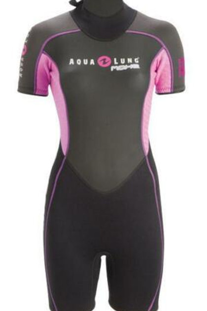Aqualung Womens Mahe 3.5mm Shorty Wetsuit - Small