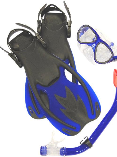 Beaver Ocean Junior Mask, Fins & Snorkel Set Blue