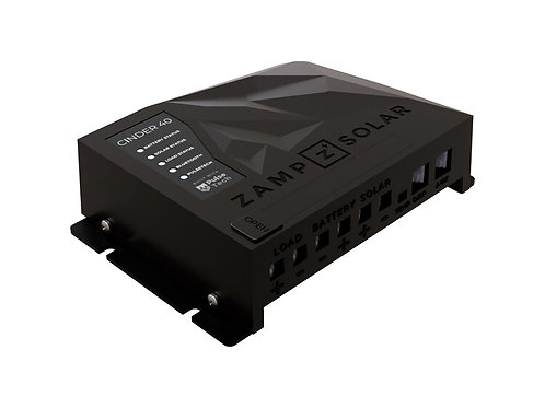 ZAMP CINDER™ 40 Amp 4-Stage PWM Charge Controller (Bluetooth)