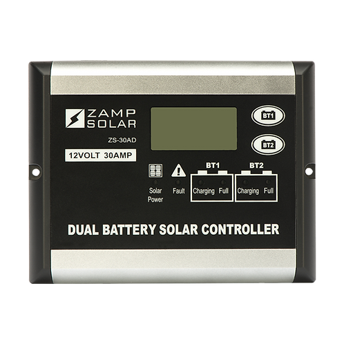 ZAMP 30-Amp Dual Battery Bank 5-Stage PWM Charge Controller