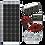 Thumbnail: ZAMP 170-Watt Dual Battery Bank Roof Mount Kit