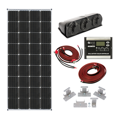 ZAMP 170-Watt Dual Battery Bank Roof Mount Kit