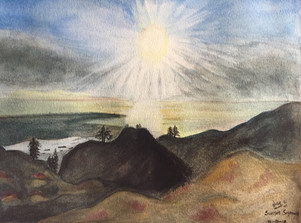 water-colour painting of Mt. Seymore