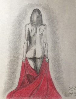 pencil drawing of a woman figure 4