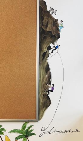 Ice climbers & Mountain biker(MEC wall art 02)