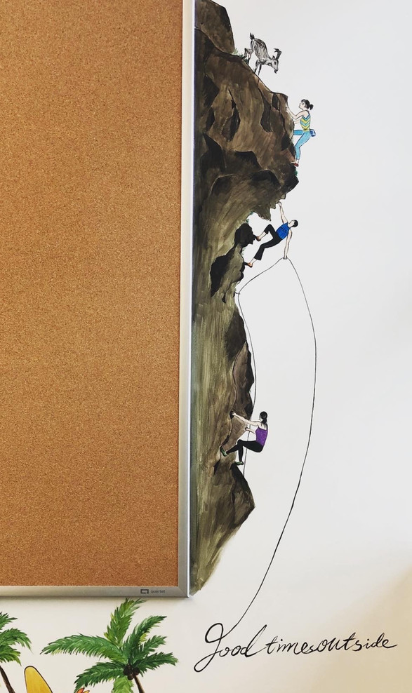Ice climbers & Mountain biker(MEC wall art 02)