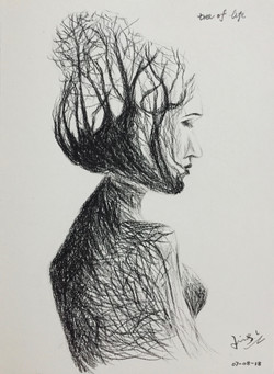 charcoal drawing _tree of life_