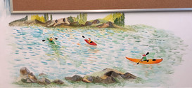 Kayakers (MEC wall art 03)