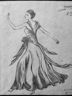 pencil drawing of a dancer 1