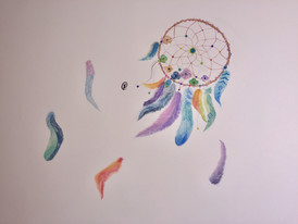 mural painting of Dream catcher