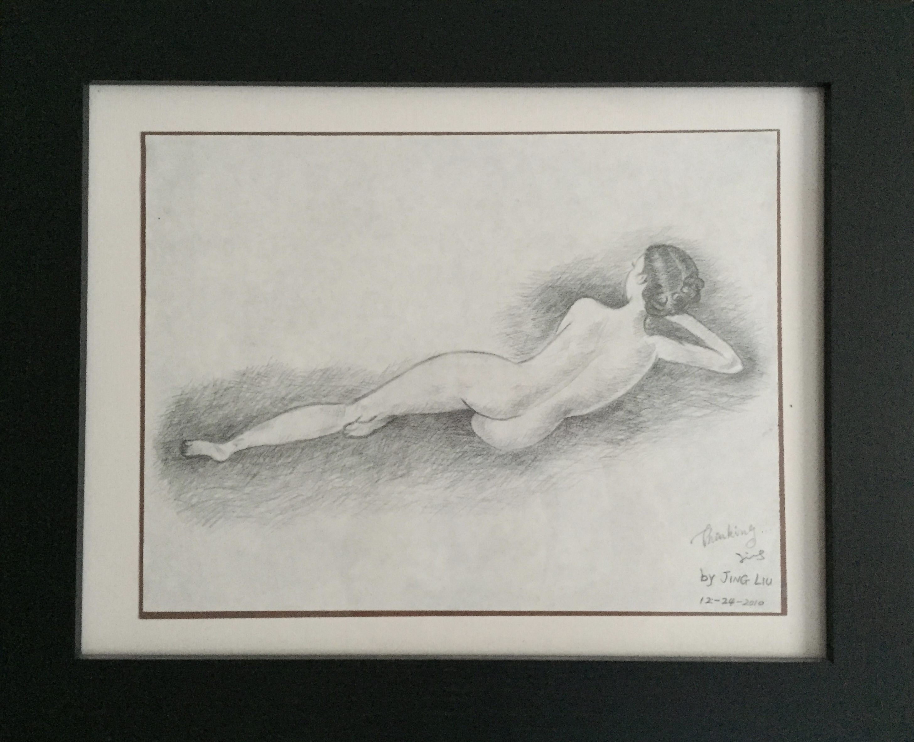 pencil drawing of a woman figure 1
