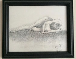 pencil drawing of a woman figure 2