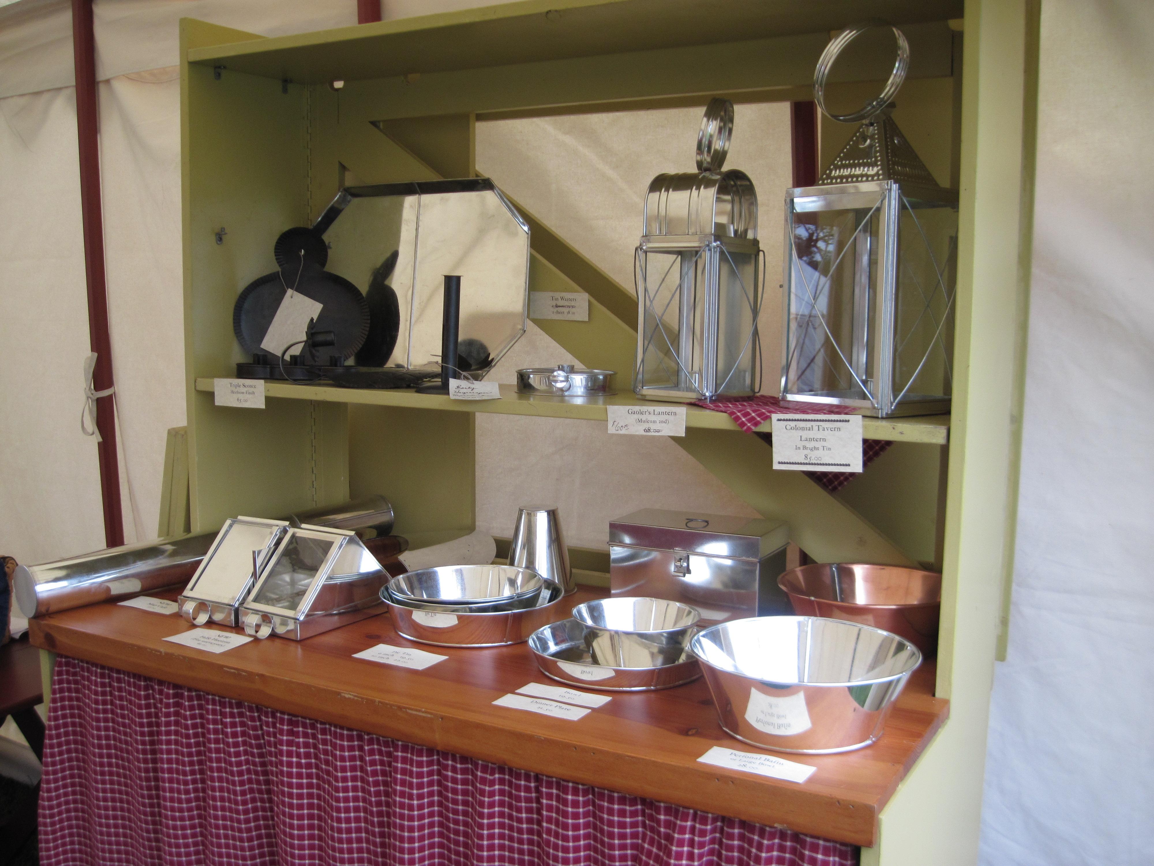 Tinware Display