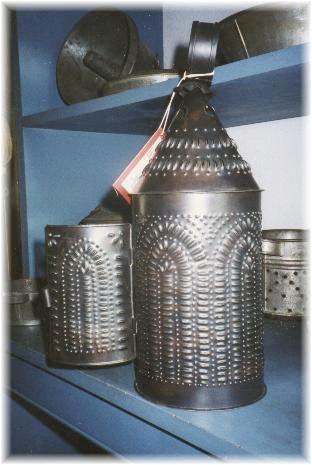 Pierced Barn Lantern - Cathedral Window
