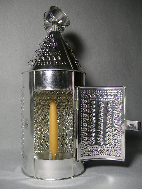 Pierced Barn Lantern - Diamonds Pattern