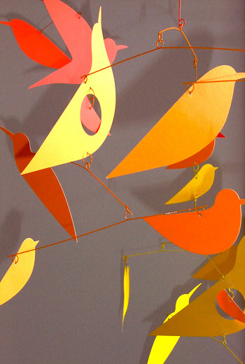 mobile bird_red
