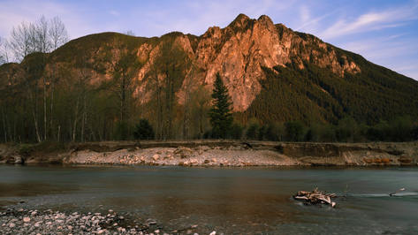 Mount Si & Snoqualmie River at Sunset