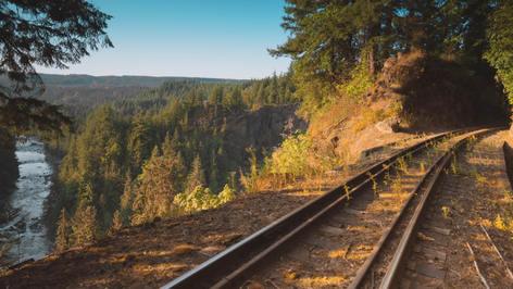 Snoqualmie Railway along Snoqualmie River