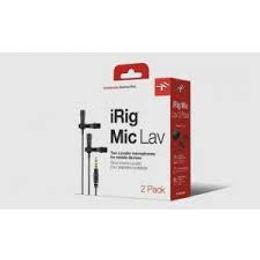 מארז 2 יחידות מיקרופון דש למכשירים ניידים IK Multimedia iRig Lav