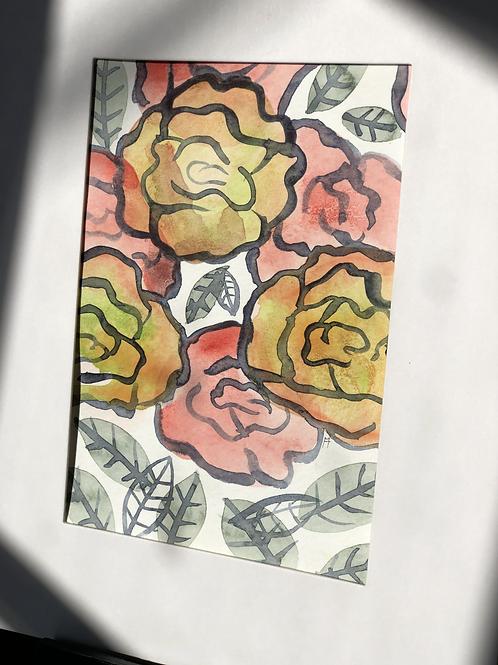 Little Flowers 4 Original Art