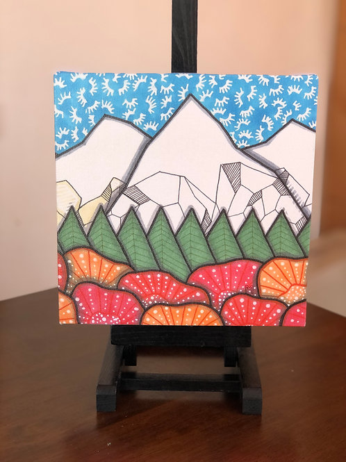 """Mountains 12 Wild Scoops 8x8"""" Canvas Print"""