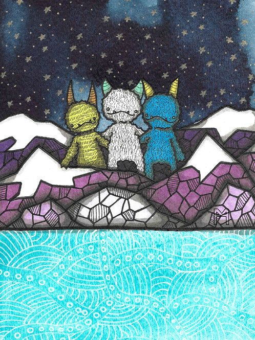 3 Friends in the Mountains