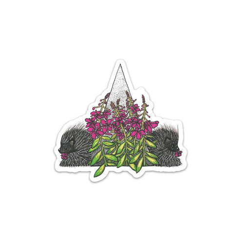 Fireweed & Porcupine Sticker