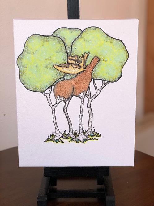 "Birch Moose Wild Scoops 8x10"" Canvas Print"