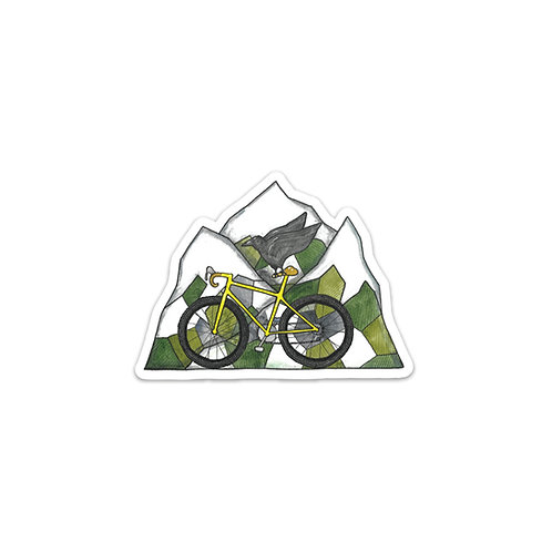 Mountain Bike Flight Sticker