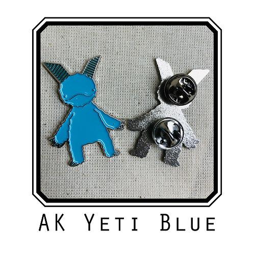 AK Yeti Blue Enamel Pin
