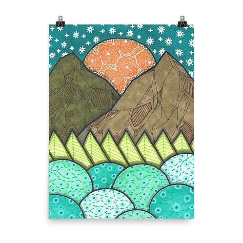 Mountains 14 Poster