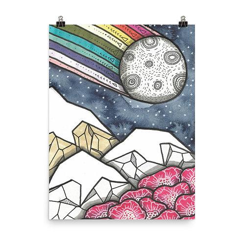 Rainbow Mountains 1 Poster