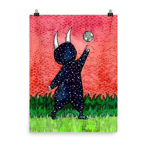 Moon Monster Poster