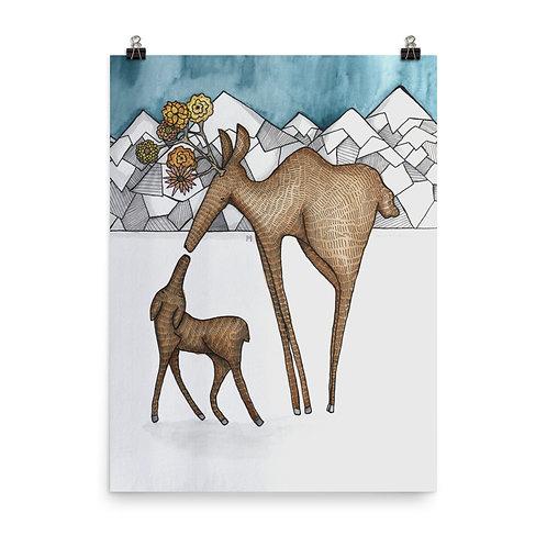 Mama Moose Poster