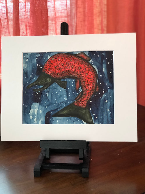 Salmon Going Home Original Art