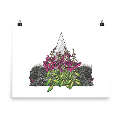 Fireweed and Porcupines Poster