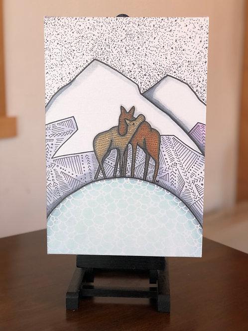 "Moose Love Wild Scoops 8x12"" Canvas Print"