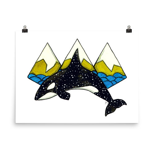 Orca Mountains Poster