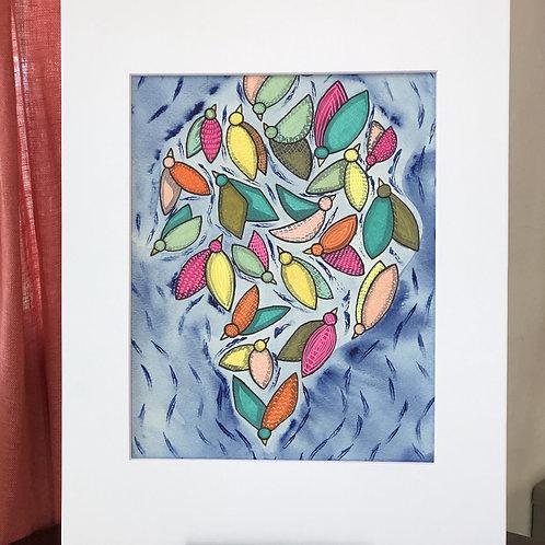 Birds of a Feather Original Art