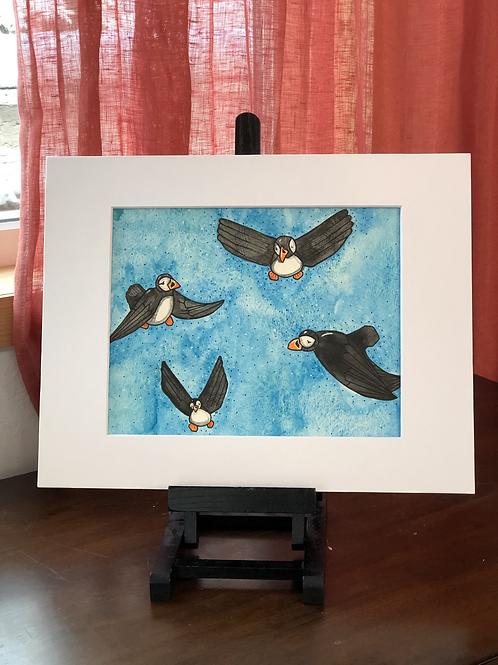 Puffin Flock Original Art
