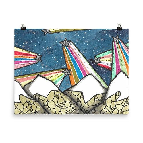 Rainbow Mountains 4 Poster