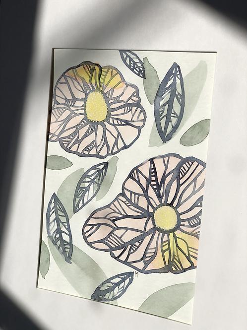 Little Flowers 1 Original Art