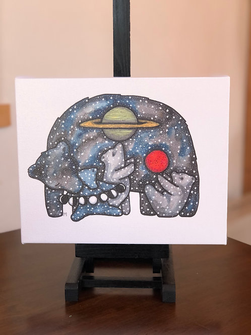 "Ursa Wild Scoops 8x10"" Canvas Print"