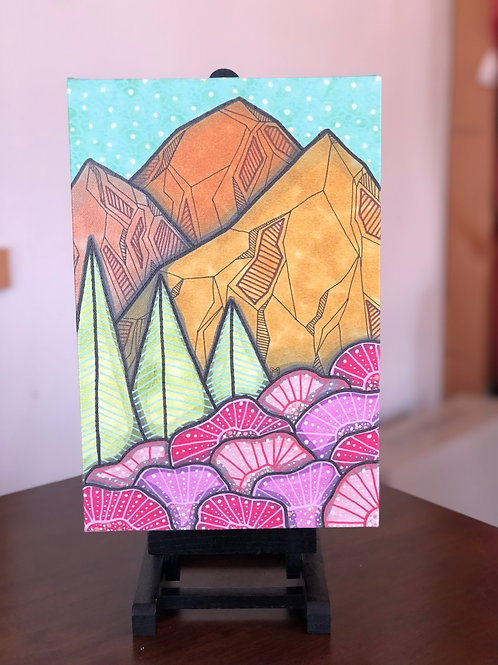 """Mountains 3 Wild Scoops 8x12"""" Canvas Print"""
