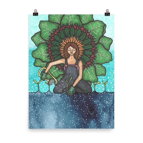 Celestial Gardening Poster