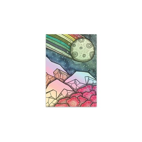 Rainbow Moon Mountain Sticker